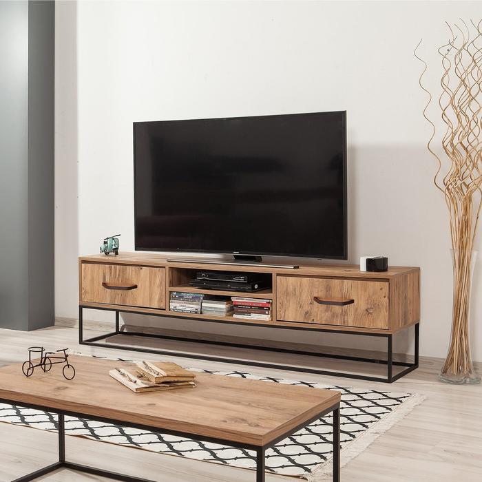 Just Home Feza 180 cm Tv Ünitesi - Atlantik Çam