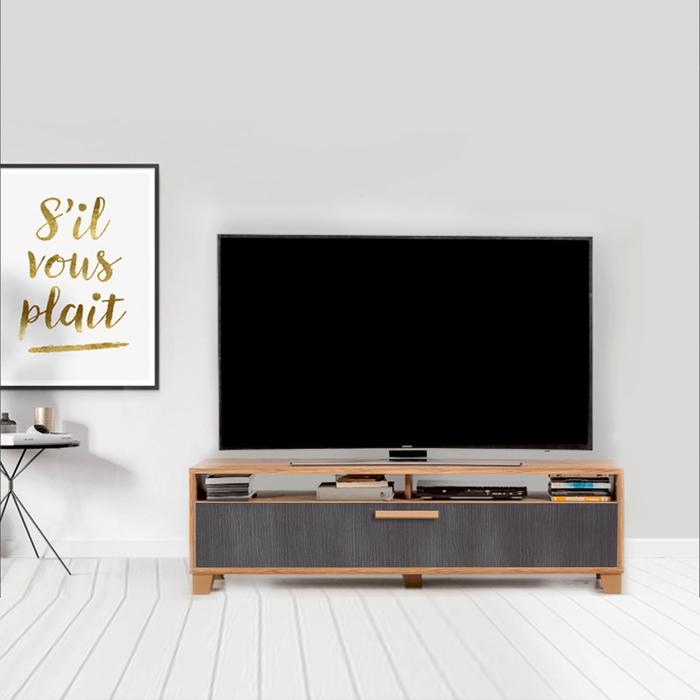Just Home Box 140 Cm Tv Ünitesi - Atlantik Çam/Antrasit