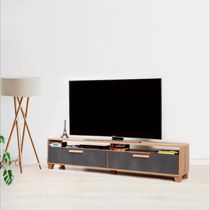 Resim  Just Home Box 180 Cm Tv Ünitesi - Atlantik Çam/Antrasit