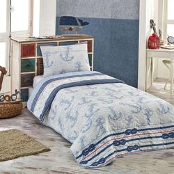 Eponj Home Çapa Tek Kişilik Yatak Örtüsü Takımı - Açık Mavi