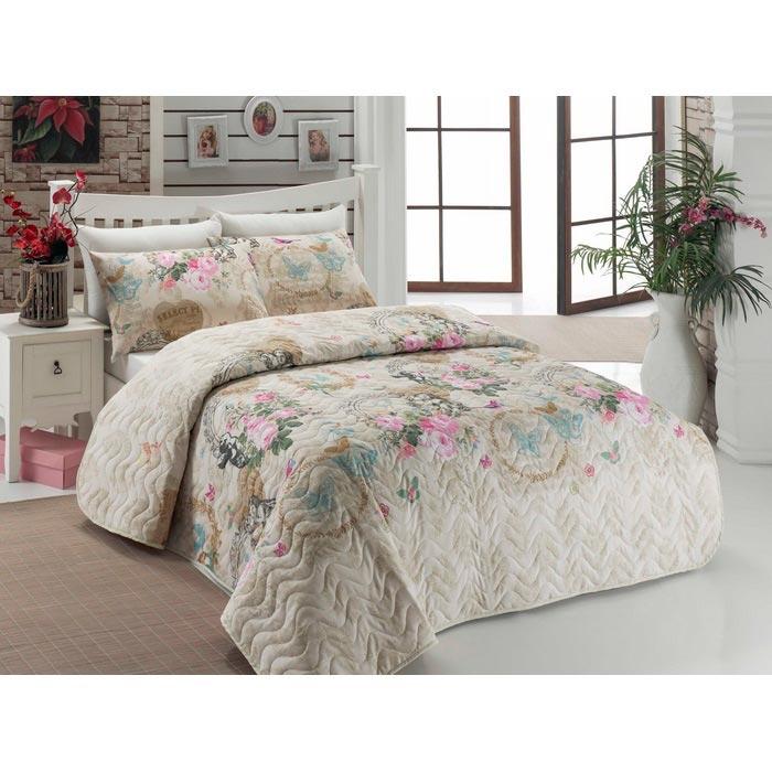 Resim  Eponj Home Ep-006403 Angel Tek Kişilik Yatak Örtüsü Takımı - Bej