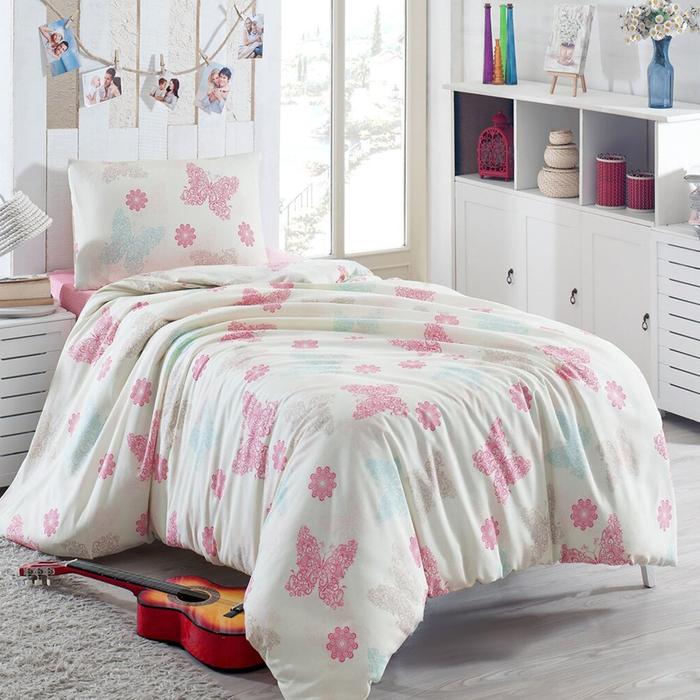 Eponj Home Ep-003559 Dream Papillon Baskılı Tek Kişilik Nevresim Takımı - Krem