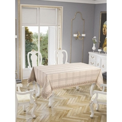 Elegante Desıgn Fancy Lınen Collectıon Masa Örtüsü (Natural Linen) - 160x220 cm