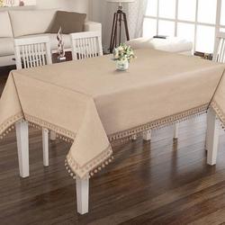 Elegante Desıgn Fancy Lınen Collectıon Masa Örtüsü (Natural Linen) - 160x320 cm