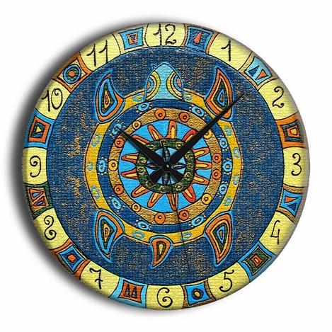 Resim  Frank Ray CZG5A175  Ahşap Duvar Saati - 60x60 cm