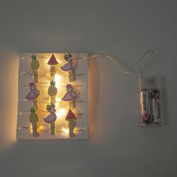 Petrix Ledli Mandallı Işık Zinciri