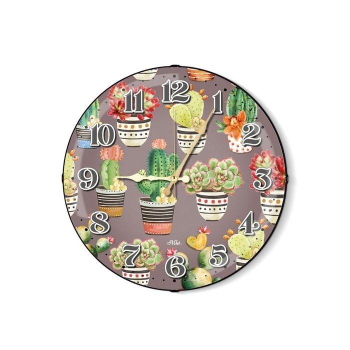 Resim  The Mia Cactus B Duvar Saati - 35 cm