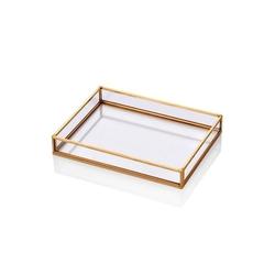 The Mia Brass Dekor Tepsi - 20x15 cm