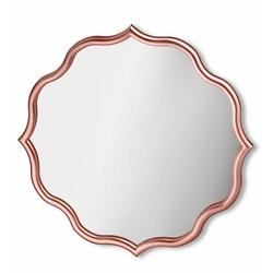 The Mia Dalga Kenarlı Ayna 60 x 60 cm - Rose