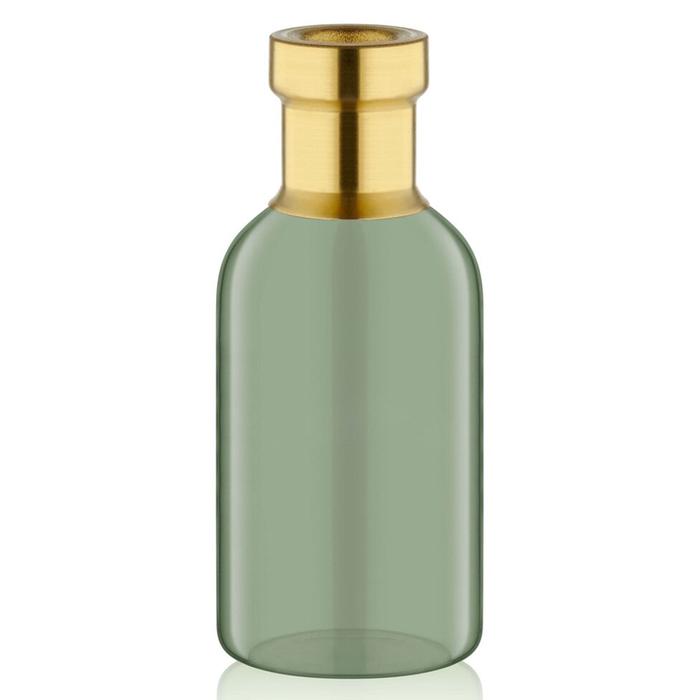 The Mia Gold Dekorlu Cam Vazo (Yeşil) - 19x8 cm