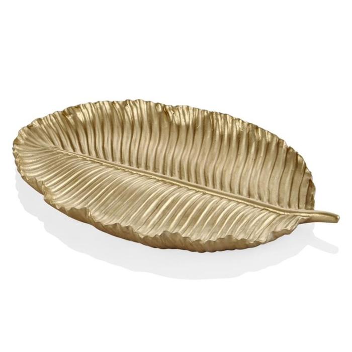 Resim  The Mia Dekor Yaprak (Altın) - 26x15 cm