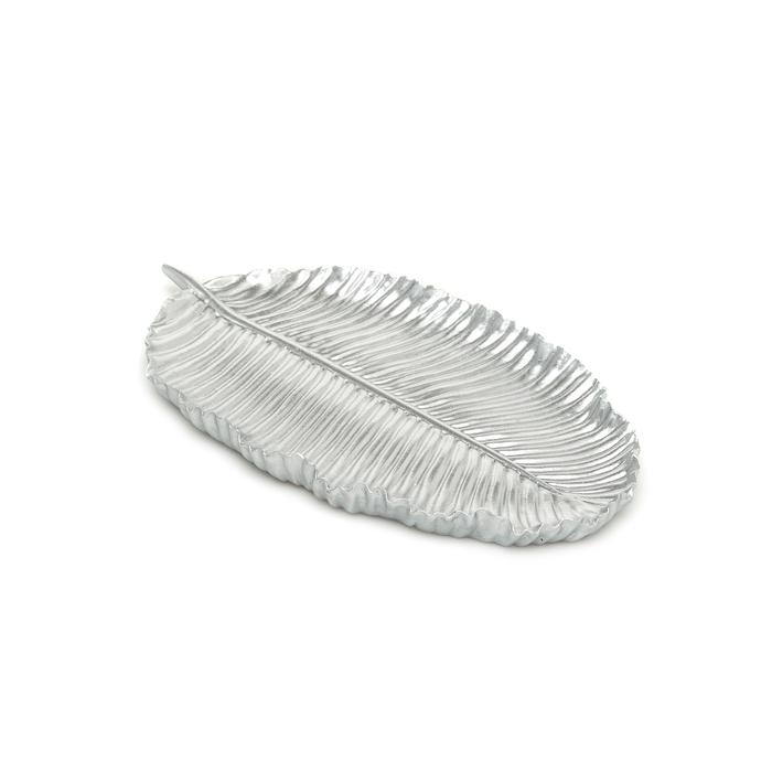 Resim  The Mia Dekor Yaprak (Gümüş) - 26x15 cm