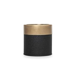 The Mia Saksı (Siyah / Gold) - 13x13 cm