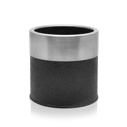 The Mia Saksı (Siyah / Gümüş) - 13x13 cm