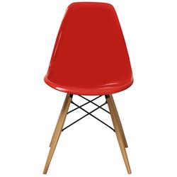 House Line LG-40 Legos Mona Masa Takımı (4 Sandalyeli) - Beyaz/Kırmızı/Siyah