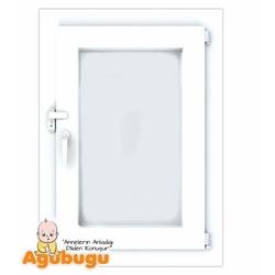 Agubugu Baby Anahtarlı Kısa Pimapen Kapı Pencere Çocuk Emniyet Kilidi - Beyaz