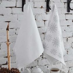 Ecocotton Snowy Gri Organik Pamuk 2'li Mutfak Havlu Seti - 45x65 cm