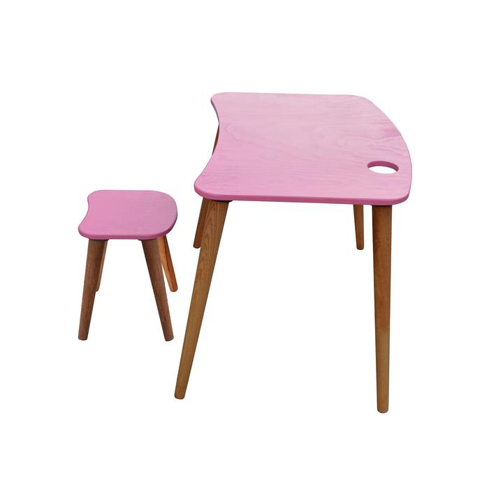 Just Home Damla Montessori Çoçuk Çalışma Masası Takımı - Pembe