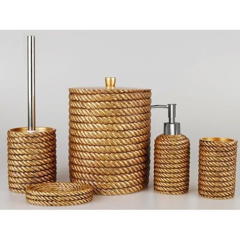 Resim  Selim Rope 5'li Banyo Seti - Altın