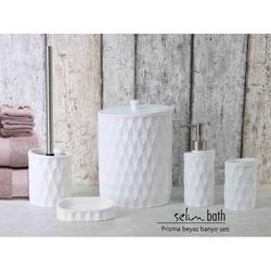 Selim Prizma Polyester 5'li Banyo Seti - Beyaz