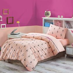 Eponj Home Flamingo Tek Kişilik Nevresim Takımı - Pudra