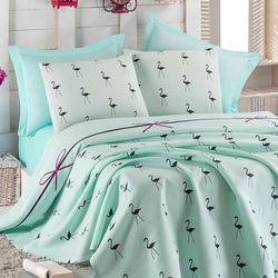 Eponj Home Flamingo Çift Kişilik Pike Takımı - Mint