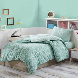 Eponj Home Pure Kolay Ütülenir Tek Kişilik Nevresim Takımı - Yeşil