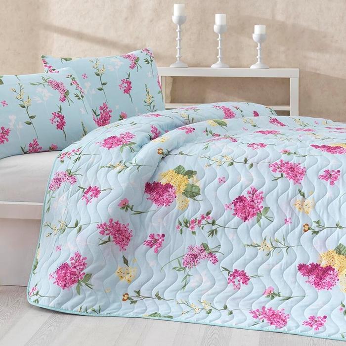 Eponj Home Lilac Kapitone Tek Kişilik Yatak Örtüsü Takımı - Pembe