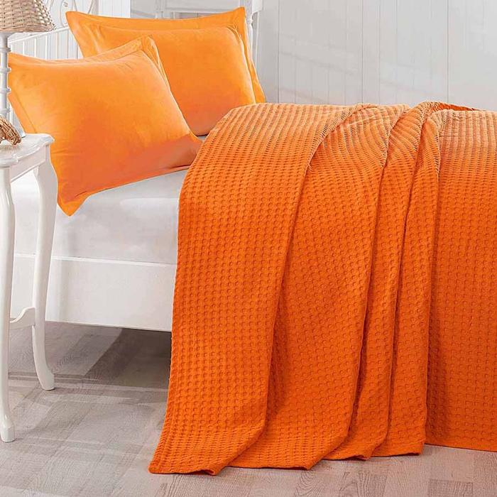 Eponj Home Havuz Düzboya Tek Kişilik Pike - Oranj