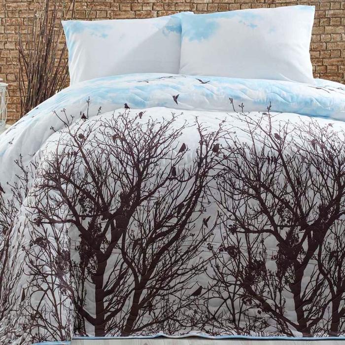 Resim  Eponj Home Peace Tek Kişilik Yatak Örtüsü Takımı - Mavi