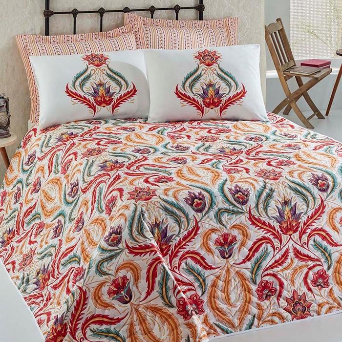 Eponj Home Eva Tek Kişilik Yatak Örtüsü Takımı - Kırmızı