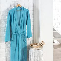 Eponj Home Niki Kadife Kimono Bornoz (Küf Yeşili) - L/XL Beden