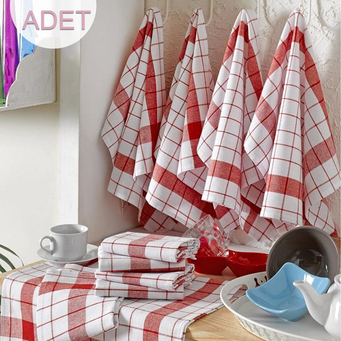 Eponj Home 10'lu Kurulama ve Mutfak Peçetesi (Kırmızı) - 46x76 cm