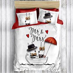 Eponj Home 3D Loveship Çift Kişilik Nevresim Takımı - Kırmızı