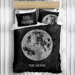Eponj Home 3D Moon Çift Kişilik Nevresim Takımı - Siyah