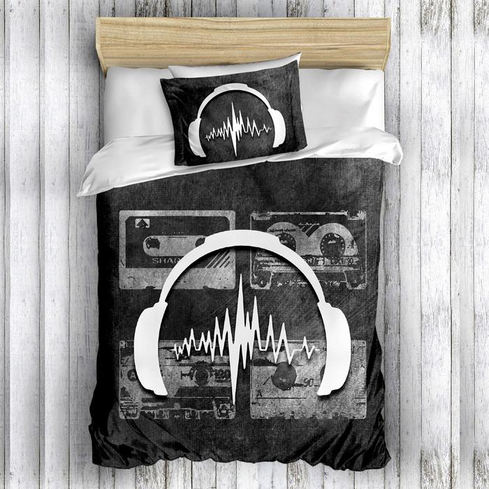 Eponj Home 3D Sound Tek Kişilik Nevresim Takımı - Siyah