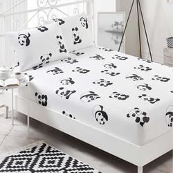 Eponj Home B&W Panda Çift Kişilik Çarşaf Takımı