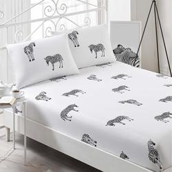 Eponj Home B&W Zebra Çift Kişilik Çarşaf Takımı
