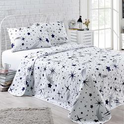 Eponj Home Halley Çift Kişilik Yatak Örtüsü Takımı - Beyaz