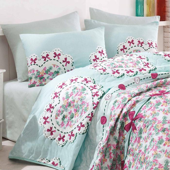 Eponj Home Lovely Tek Kişilik Yatak Örtüsü Takımı - Mint