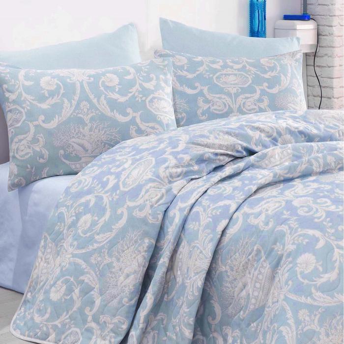 Resim  Eponj Home Tuval Tek Kişilik Yatak Örtüsü Takımı - Mavi