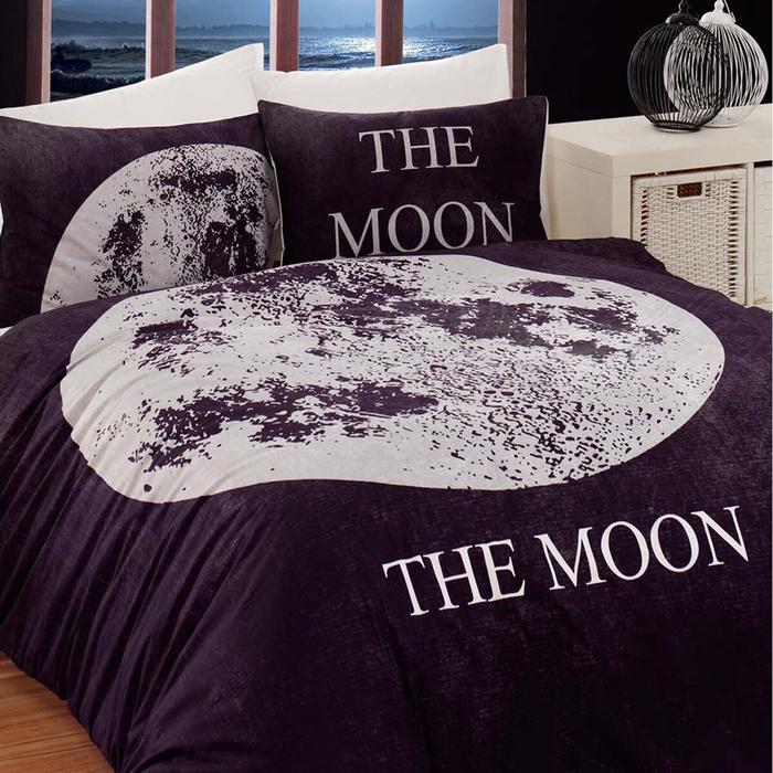 Eponj Home Moon Çift Kişilik Nevresim Takımı - Siyah