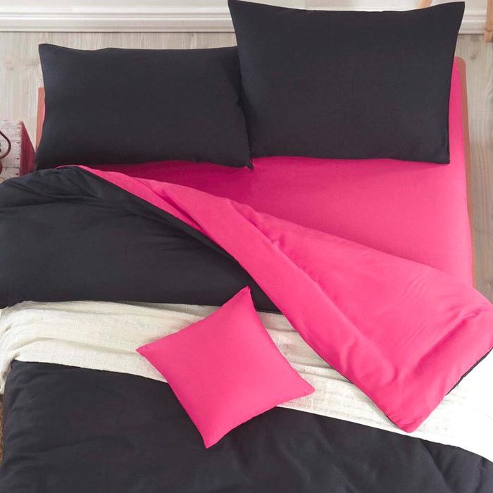 Eponj Home Paint Mix Çift Kişilik Nevresim Takımı - Siyah/Fuşya