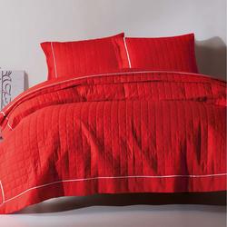 Eponj Home Paint Düz Boya Çift Kişilik Yatak Örtüsü Seti - Kırmızı