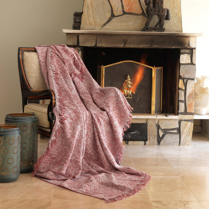 Resim  Eponj Home Keten Koltuk Örtüsü (Linen Kırmızı)- 170x220 cm