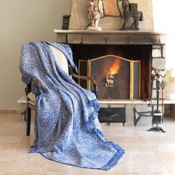 Eponj Home Keten Koltuk Örtüsü (Linen Mavi)- 170x220 cm