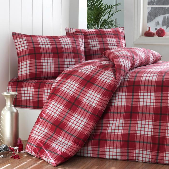 Eponj Home Burberry Çift Kişilik Nevresim Takımı - Kırmızı