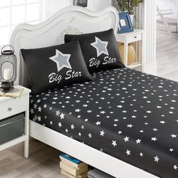 Eponj Home WhiteStar Lastikli Tek Kişilik Çarşaf Seti - Siyah