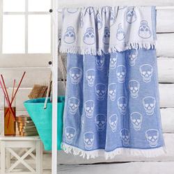 Eponj Home ift Katlı Kuru Kafa Peştemal - Mavi