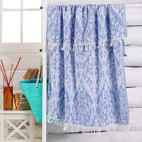 Resim  Eponj Home Jakarlı Çift Katlı Peştemal - Mavi
